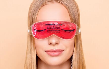 Wärme Gel Maske zum einfachen Erwärmen oder Kühlen der Augenlider.
